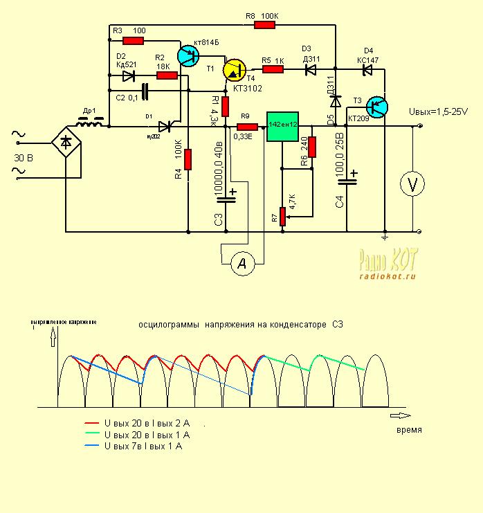 резистор включается на